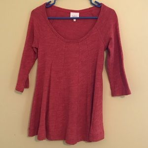 Anthropologie Deletta Red Swing Top, size XS